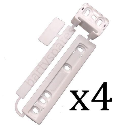 4 X Universale Frigorifero congelatore integrato porta Staffa Di Montaggio Kit di Fissaggio Diapositiva