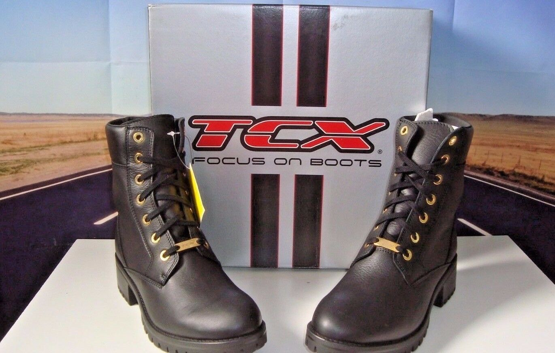 TCX Smoke Ladies Waterproof Nero 41 Motorcycle Boots With Heal Black Size 9 HB