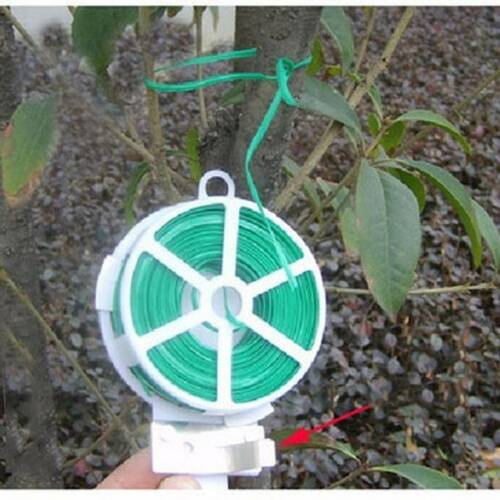 50M Garden Roll Wire Plant Ties with Cutter for Gardening Plant String