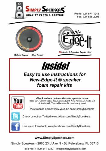 "2002 Toyota Camry 6/""x9/"" 86160-AA320 86160-AA351 Speaker Rubber Edge Repair Kit"