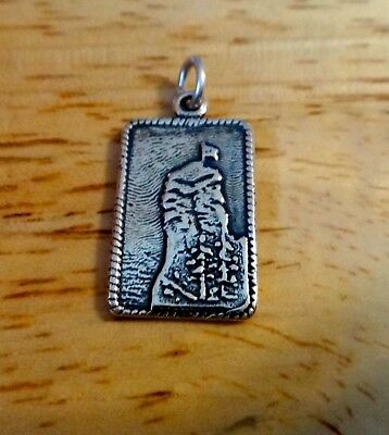 1 Sterling Silver 21mm North Carolina says The Blowing Rock Charm