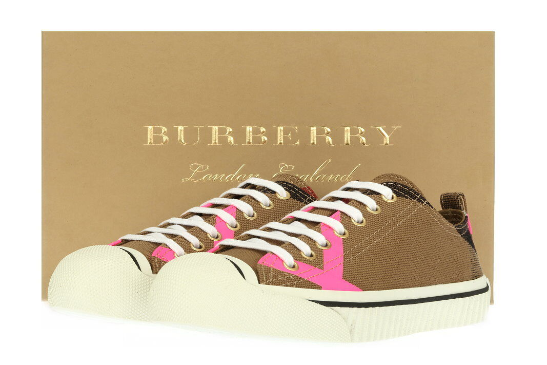 NEW BURBERRY CLASSIC CHECK NEON PINK TRAINERS SNEAKERS SNEAKERS SNEAKERS FLAT SHOES 35 US 5 b4c692