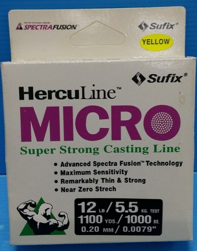 Sufix Micro Herculine Fishing Line Advanced Spectra Fusion 12lb 1000m