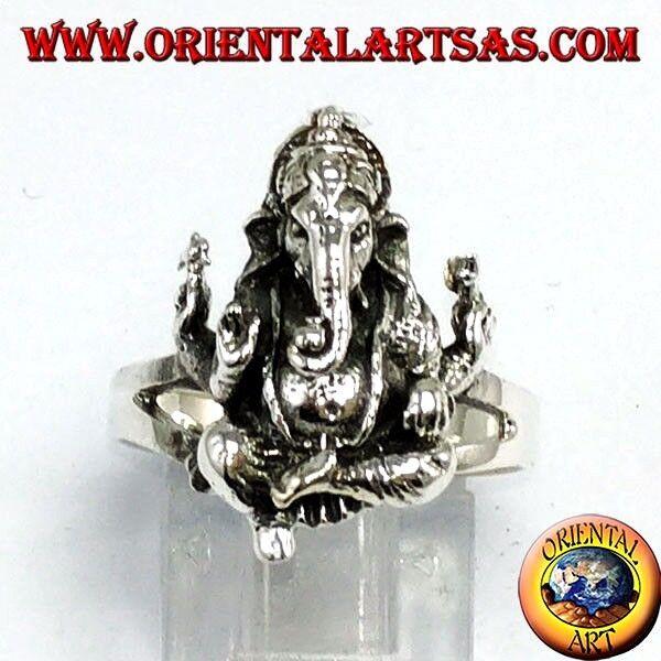 Ring silver 925 mit Ganesha oder ganesh sitzen