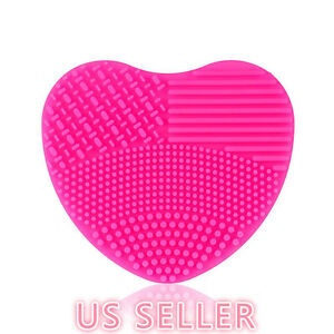 MAKEUP-BRUSH-CLEANER-Heart-Shape-Scrubber-Cosmetic-Cleaning-Silicone-Foundation