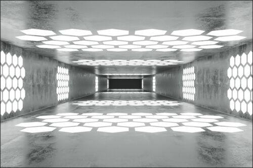 Fabuleuse 3d Effet Nappes Papier peint XXL abstraction Tunnel 8313 Salon