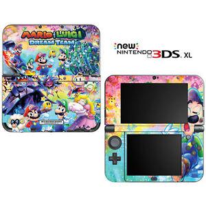 Mario Luigi Dream Team For New Nintendo 3ds Xl Skin Decal Cover
