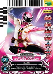 Power rangers card rise of heroes pink super samurai - Jeux de power rangers super samurai ...
