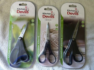 KITCHEN-DEVILS-SCISSORS-1-PAIR-CHOICE-OF-KITCHEN-HOUSEHOLD-amp-ALL-PURPOSE