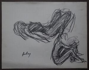 Disegni Di Ballerine Da Disegnare : Paul hubay 1930 1994 disegno studio ballerina firmato 4 ebay