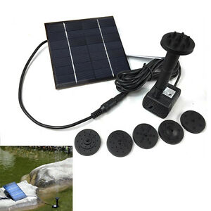 Floating-Solar-Powered-Pond-Garden-Water-Pump-Fountain-Pond-For-Bird-Bath-NEW-X