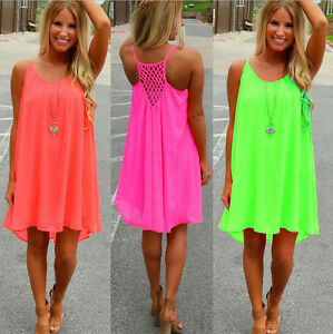 Details about Women Lady Braces Skirt Shorts Blouse Summer Beach Slip Dress  Plus Size Sundress