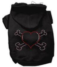 XS DOG HOODIE chihuahua teacup yorkie CROSSBONE DOG SWEATSHIRT clothes USA MADE