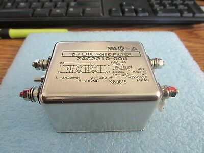 1pcs Used Good TDK ZAC2210-00U 250V 10A NOISE FILTER #V01-R