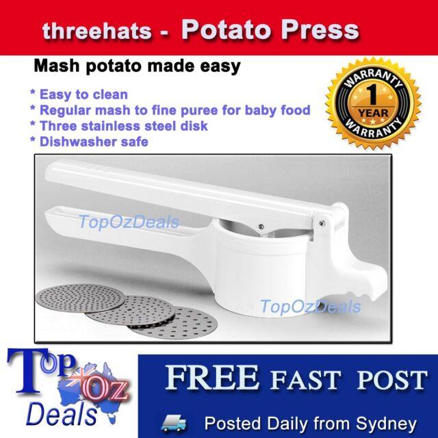 2X NEW Potato Ricer Masher Press Brand with 3 ricing plates - warranty brand new
