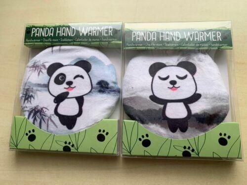 Taschenwärmer Handwärmer mit Motiv Panda Nr 1 2Stück mit Fleeceüberzug