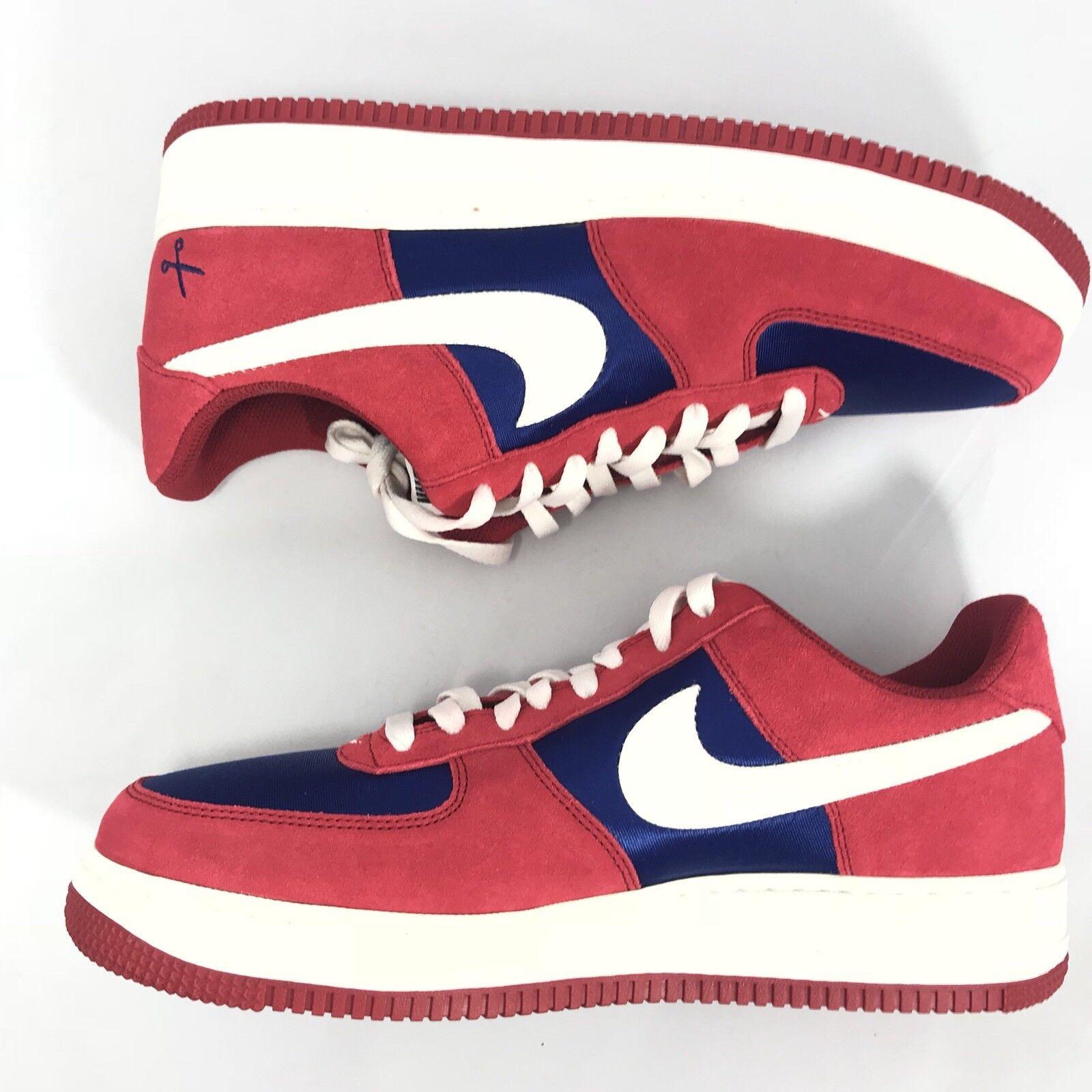 Nike air force 1 basso Uomo basket palestra rosso blu reale vela 488298-626 sz