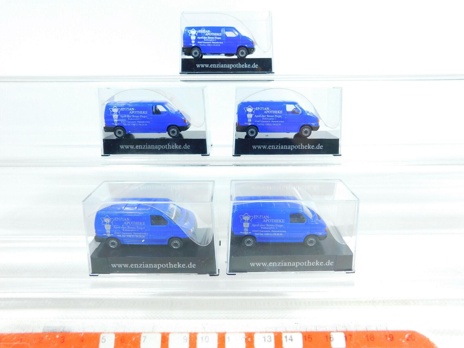 BX233-0, 5 x AWM   Amw 1 87 H0 57865 Volkswagen VW T 4 Enzian-Apotheke, Nip