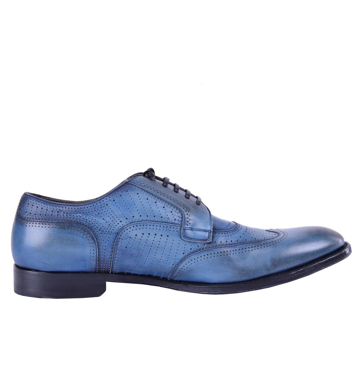 DOLCE & GABBANA Perforierte Schuhes Kalbsleder Derby Schuhe