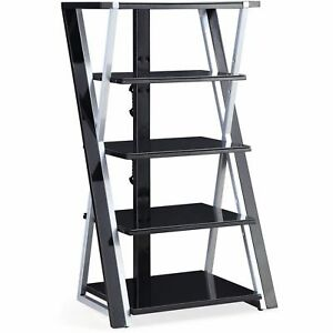 Image Is Loading Stereo Rack Tower Storage Audio Stand Shelves Equipment