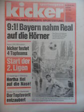 KICKER 63 - 7.8. 1980 * Bayern-Real Madrid 9:1 HSV-Ajax 3:2 VfB-Liverpool 3:2