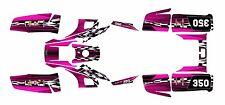 Yamaha Warrior 350 Graphics Decal kit Free Custom Service #2500-Hot Pink