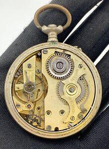 Unknown-Main-Manuel-Vintage-45-mm-Pas-Fonctionne-pour-Pieces-de-Poche-Montre