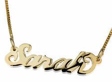 Collier avec Prénom plaqué or Pendentif avec nom