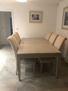 Details About Extendable Solid Wood Dining Room Table And 8 Chairs