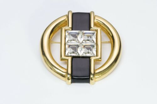 VALENTINO Garavani 1980's Art Deco Style Gold Tone