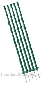 Weidezaunpfähle 156 cm,80 Stück Weidezaunpfahl,Elektrozaun,weiss oder grün