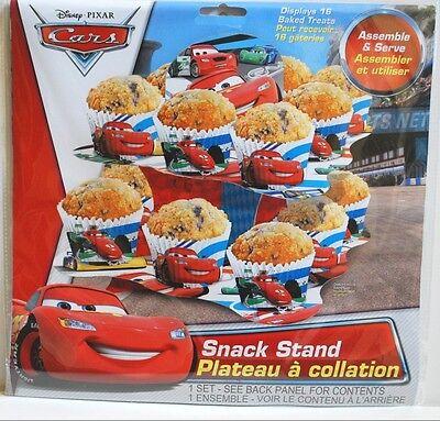 DISNEY PIXAR CARS SNACK/CUPCAKE STAND PARTY BIRTHDAY DECOR LIGHTNING MCQUEEN