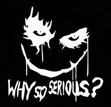 White Joker Why So Serious Sticker Vinyl Decal Suicide Squad Harley Quinn Batman