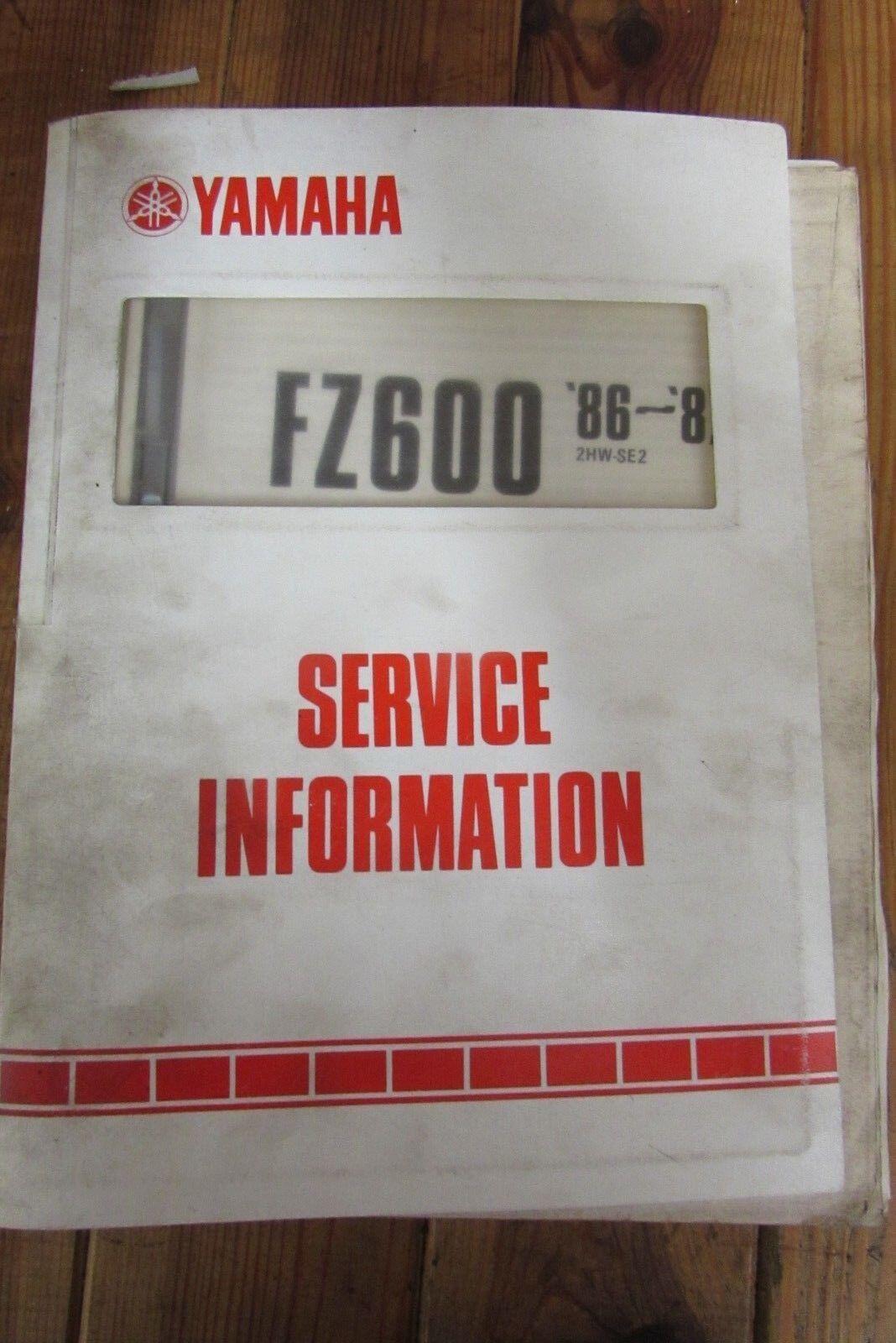 1986 1987 YAMAHA FZ600 SERVICE INFORMATION + WIRING DIAGRAM 2HW-SE2 Xt Wiring Diagram on