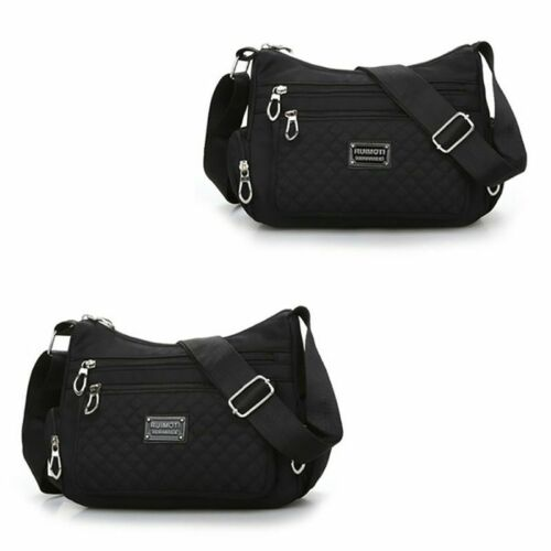 Leichte Damen Schultertasche Umhängetasche Handtasche Stofftasche Bag Crossover