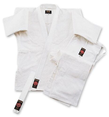 White Judo Suit BJJ Gi JuJitsu Uniform 100% Cotton Free White Belt Adult Sizes