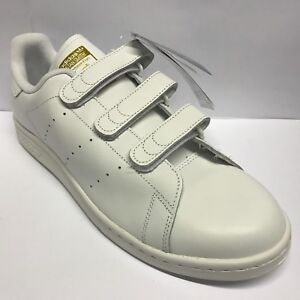 Details about Mens Adidas Stan Smith Cf WHITE GOLD Trainers Adidas Size 12  Tab Fastening
