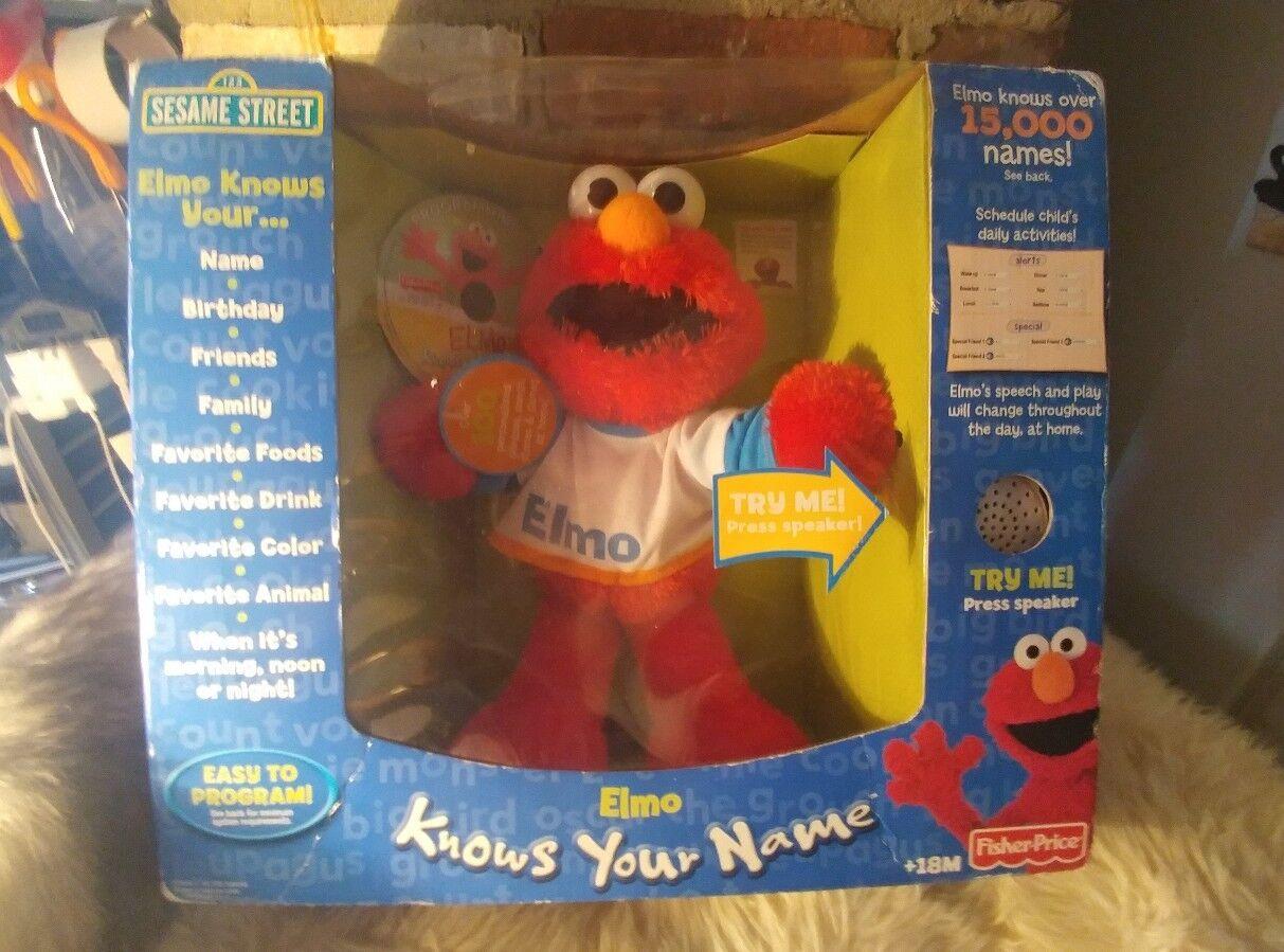 Elmo Knows Your Name Sesame Street Fisher-Price New in Original Box 2007 v2.0