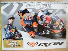 BRAD BINDER KTM MOTO3 WORLD CHAMPION 2016 IXON ARAI KTM RED BULL TEAM AJO VR46