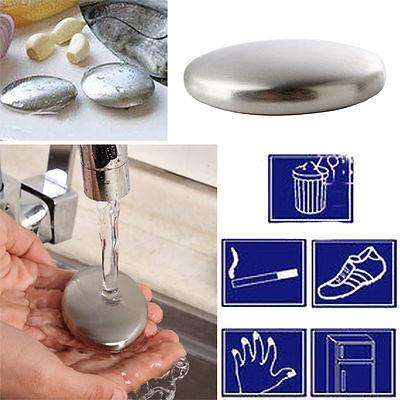 Garlic Kitchen Deodorize Tools Soap Bar Stainless Steel Gadget