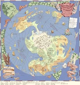 Disc World Map.The Discworld Mappe Counted Cross Stitch Kit Chart 14s Aida Ebay