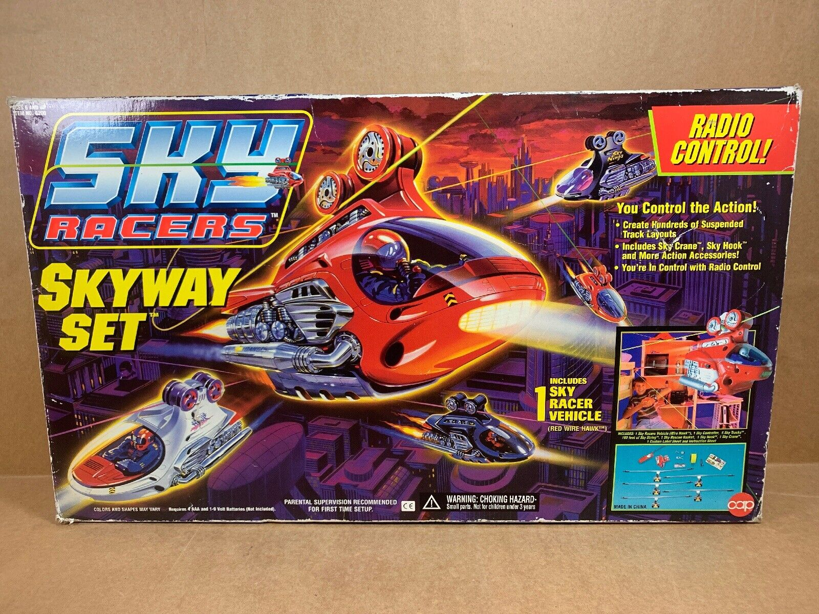 Vintage Cap Juguetes Sky Racers Skyway Set Radio Control En Caja Original con Manual de forma agradable