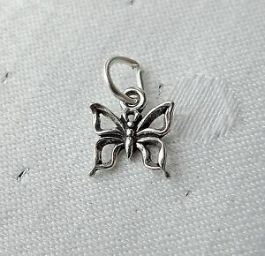 Image Is Loading BUTTERFLY OUTLINE TINY 3D CHARMS CHARM 925 STERLING