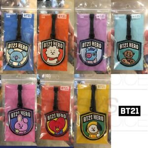 BTS BT21 Official Authentic Goods Luggage Tag Hero Ver 7Characters +Tracking Num