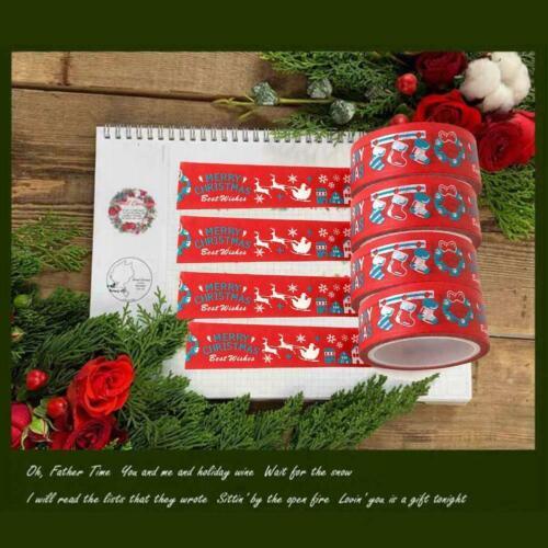 Christmas Washi Tape Single Sided Craft Tape Xmas Craft Supplies 1 x Y2Y5
