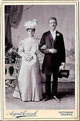 CAB photo Schönes Hochzeitsbild - Pottendorf Trumau um 1910