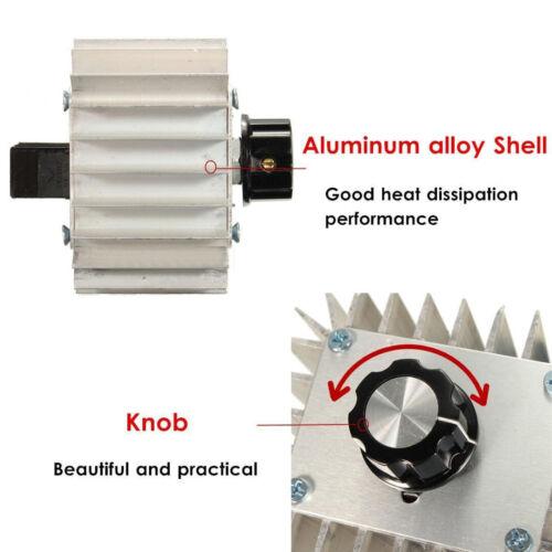 Fan 5000W 220V AC SCR Voltage Regulator Dimmer Thermostat Motor Speed Control