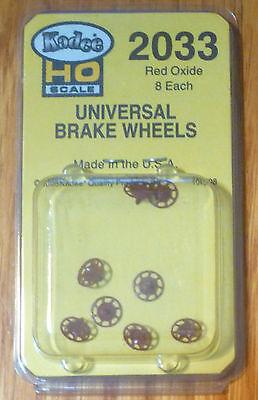 Kadee #2033 Universal Brake Wheels Oxide Red (8)