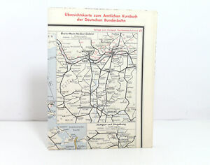 Outline Map Of Country to The Offical DB Railway Guide Nordwestdeutschland 1961