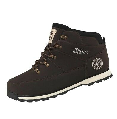 Henleys Men's Oakland Casual Fashion Boots Brown